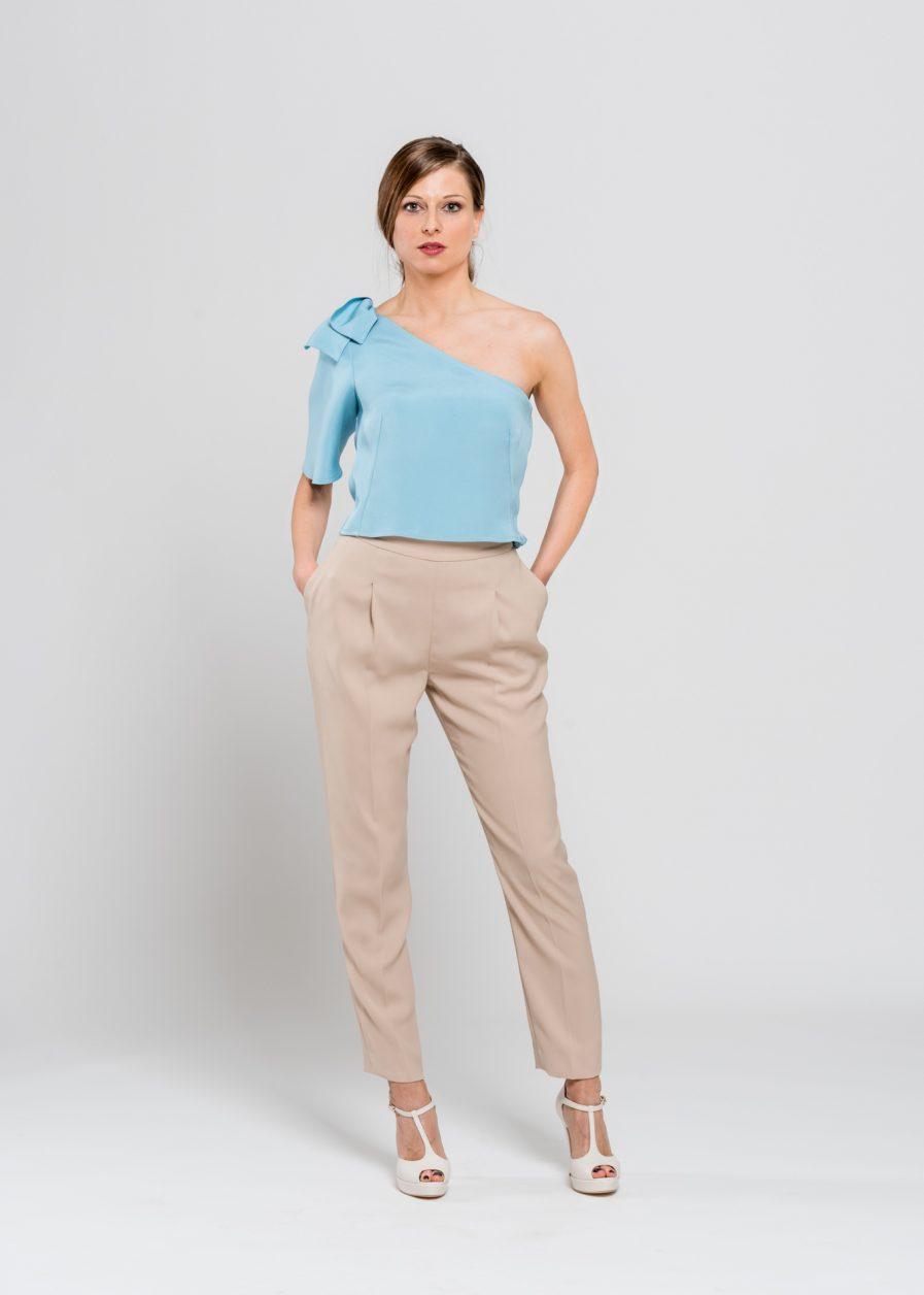 Pantaloni vita alta - sartoria artigianale
